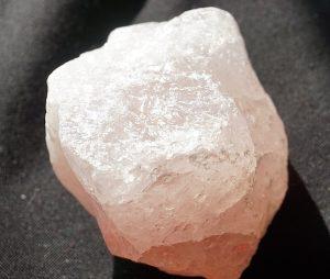 Rose quartz block