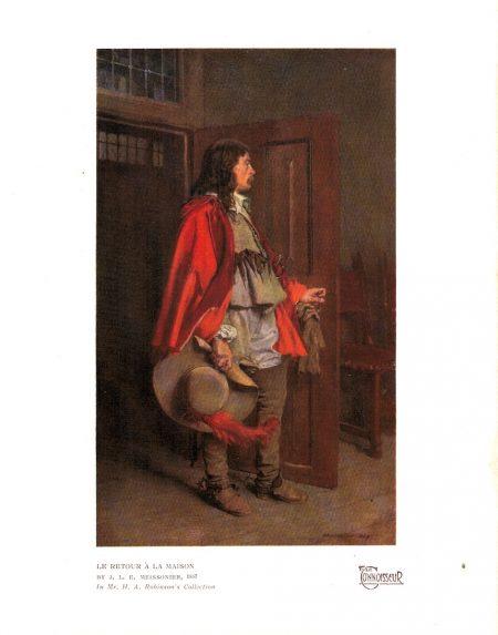 Vintage Print, Le Retour à la maison, by J. L. Meissoniere, 1923