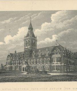 Antique Print, Royal Victoria Patriotic Asylum, 1880
