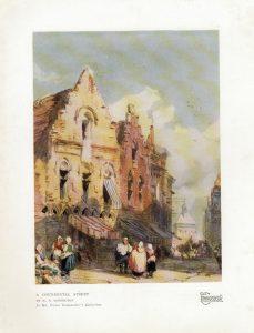 Vintage Print, A Continental Street, by R.P. Bonington, 1923