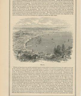 Antique Prints, Trieste, Buda-Pesth, 1890 ca.