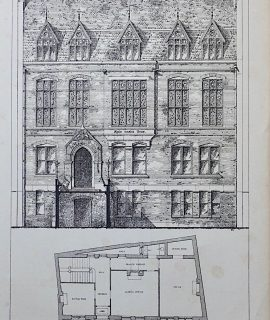 Antique Print, Curriers Hall, London, 1873