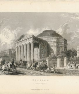 Antique Engraving Print, Coliseum, Regent's Park, 1837