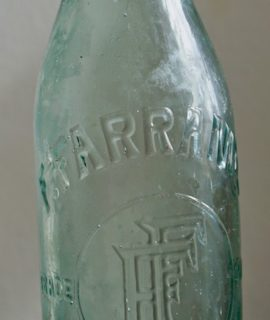 Antique Victorian Glass Bottle of Beer, F. Farrands, Nottingham