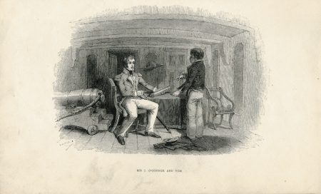 Antique Engraving Print, Sir J. O'Connor and Tom, 1870 ca.