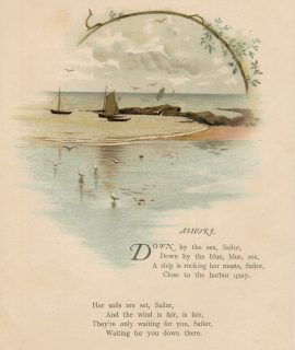 Antique Print, Ashore, 1890 ca.