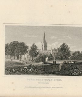 Antique Engraving Print, Stratford-Upon-Avon, 1830 ca.