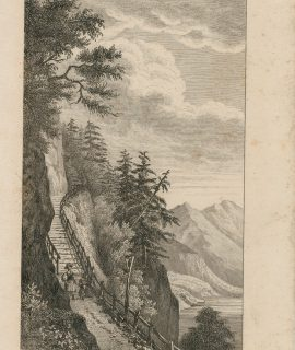 Antique Engraving Print, Chemin de Weglin au Righi, 1830