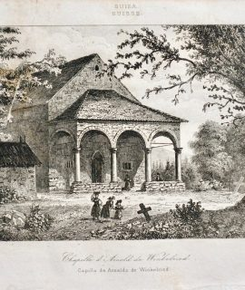 Antique Engraving Print, Chapelle d'Arnold de Winkelried, 1836