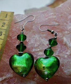 Vintage Green Murano Earrings