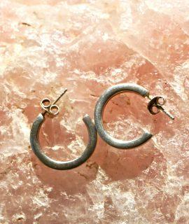 Vintage Hoop Earrings, Silver 925