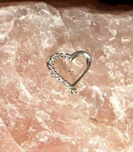 Vintage Love Heart 925 Silver Pendant