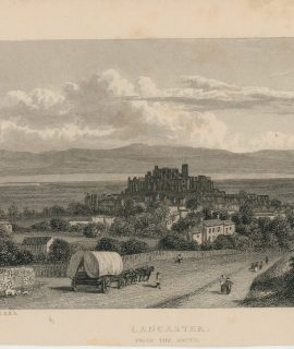 Antique Engraving Print, Lancaster, 1829