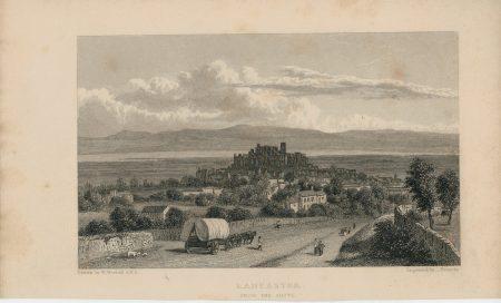 Antique Engraving Print, Lancaster, 1829