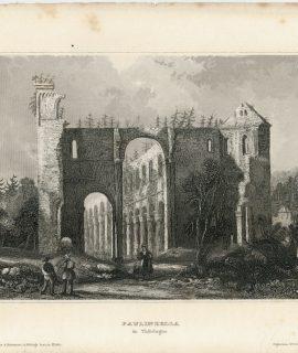 Antique Engraving Print, Paulinzella, 1836