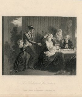 Antique Engraving Print, The Unlooked for Return, 1833