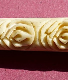 Antique Bone Carved Cigarette Holder