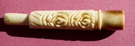 Antique Bone Carved Cigarette Holder