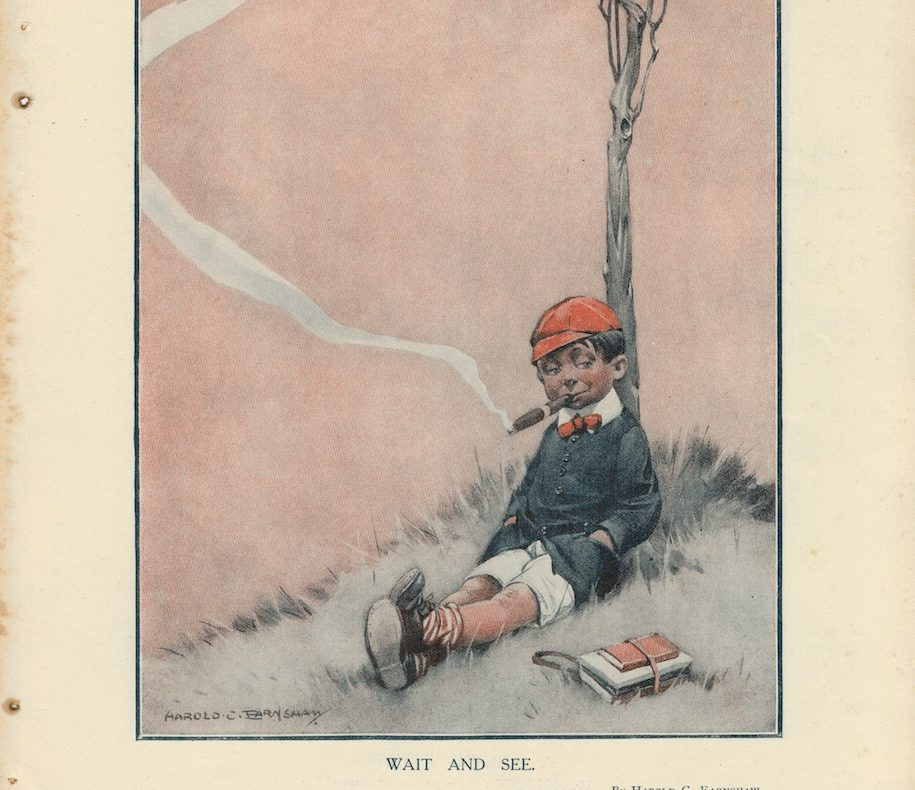 Vintage Rare Print, Mr. Mosquito, by Hawley Morgan, 1908
