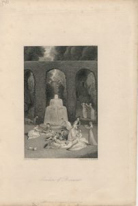 Antique Engraving Print, Gardens of Boccacio, 1836