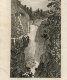Antique Engraving Print, Handech, 1830