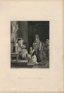 Antique Engraving Print, Princess Doria, 1836