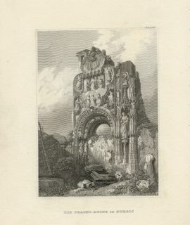 Antique Engraving Print, Die Pracht, Ruine in Burgos, 1830