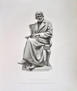 Antique Engraving Print, Thomas Carlyle, 1878