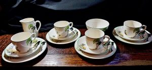 Rare Art Deco Wedgwood tea set, 14 pieces, 1936