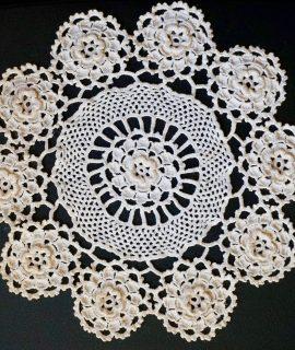 Vintage Handmade Crochet Doily