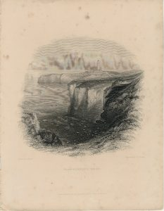 Antique Engraving Print, Flamborough Head, 1842 ca.