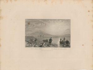 Antique Engraving Print, Loch Seven Castle, 1844
