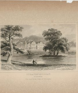 Antique Engraving Print, Strathfieldsay, 1840 ca.