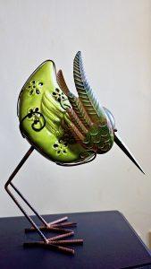 Metal and Ceramic Bird