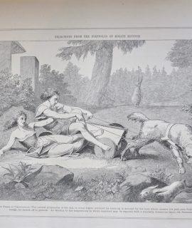 Antique Print, The Force of Temptation, 1870