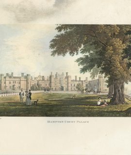 Antique Print, Hampton Court Palace, 1890