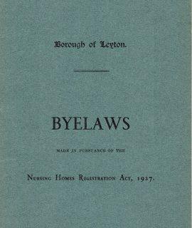 Borough of Leyton, Byelaws, 1927