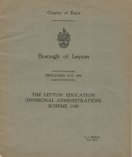County of Essex, Borough of Leyton, Educational Act, 1945