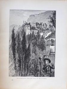 Antique Print, The Generaliffe, 1870