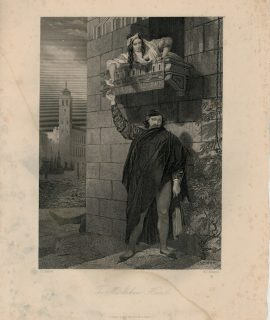 Rare Antique Engraving Print, The Mistaken Hand, 1846 ca.