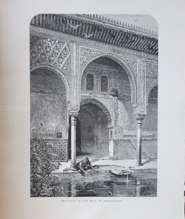 Antique Print, Entrance to the Hall of Ambassador, 1875