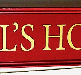Antique Victorian Wooden Shop Signboard, restored, 1880