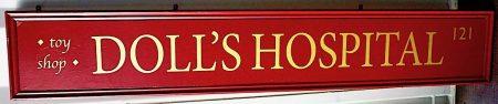 Antique Victorian Wooden Shop Signboard, restored, 1880
