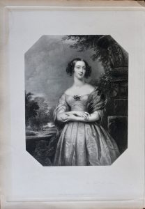 Antique Engraving Print, The Hon.ble M.rs Neave, 1845