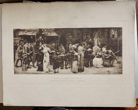 Antique Print, The Elixir of Love, 1880