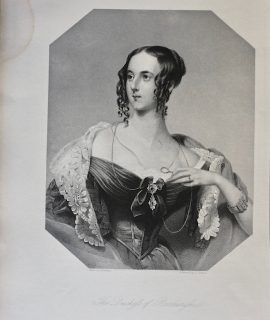 Antique Engraving Print, The Duchess of Roxburghe, 1839