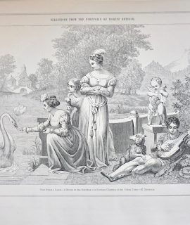 Antique Print, The Swan's Lake, 1870