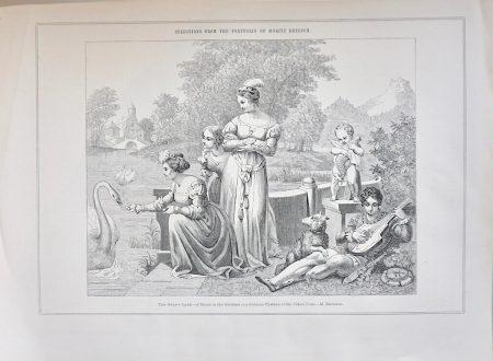 Antique Print, The Swan's Lake, 1870