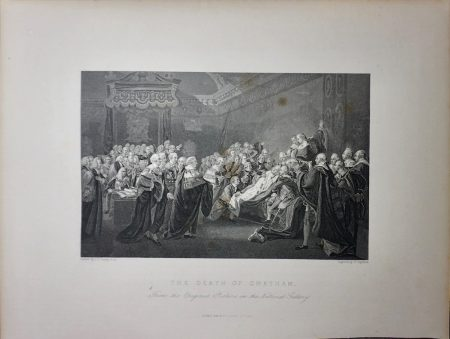 Antique Engraving Print, The Death of Chatman, 1845 ca.