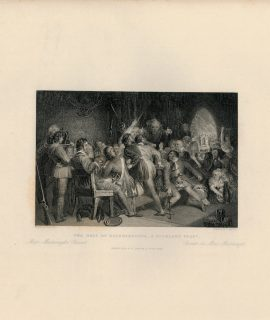 Antique Engraving Print, The Hall of Glennaquoich, 1845
